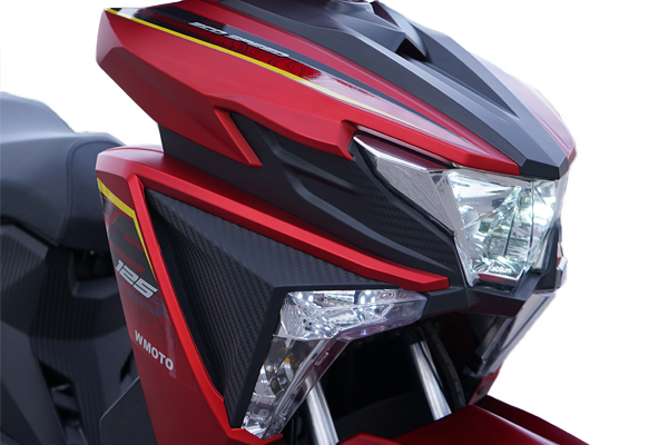 Bright, clear headlight and DRL that can light your way during your ride.