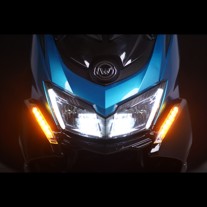 Using LED technology for longer lifespan of the DRL